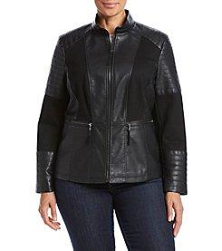 Giacca® Plus Size Ponte Panel Scuba Jacket
