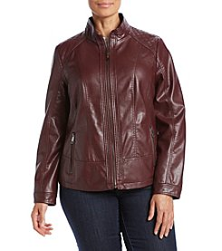 Giacca® Plus Size Faux Leather Jacket