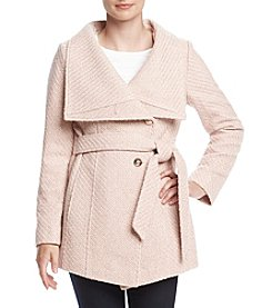 Jessica Simpson Belted Asymmetrical Coat