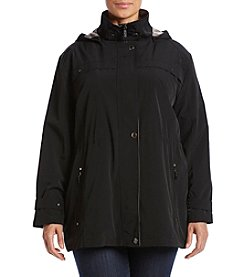 Forecaster Plus Size Faux Silk Anorak