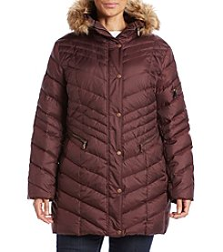 Marc New York Plus Size Renee Chevron Down Jacket