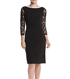 Jessica Howard® Long Sleeve Illusion Cutout Shoulder Dress