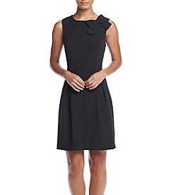 Jessica Howard® Sleeveless Bow Neck Fit And Flare Dress