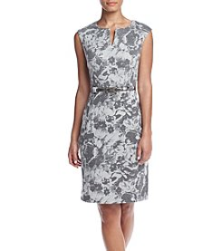 Connected® Cap Sleeve Floral Sheath Dress