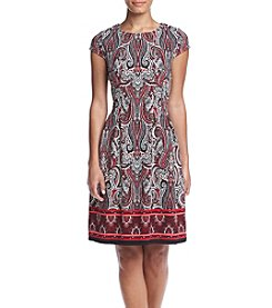 Madison Leigh® Paisley Print Fit And Flare Dress