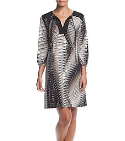 Madison Leigh® Tie Neck Shift Dress