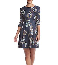 Gabby Skye® Fit And Flare Scuba Dress
