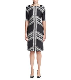 Gabby Skye® 3/4 Sleeve Midi Sheath Dress