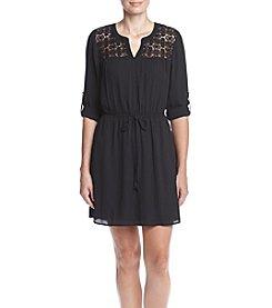 DR2 by Daniel Rainn™ Lace Chrochet Shirt Dress