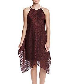 MSK® Sheer Trapeze Hanky Dress