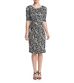 Madison Leigh® Ruche Dotted Dress