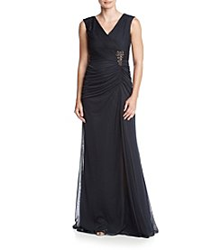 Adrianna Papell® Side Ruche Long Gown
