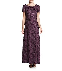 Alex Evenings® Cap Sleeve Rosette Gown