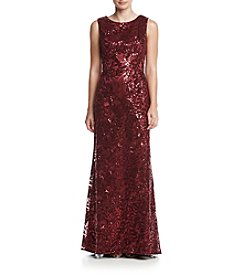 Eliza J® Long Lace Sequin Gown