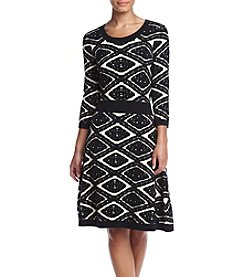 Taylor Dresses Printed Sweater Dress