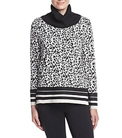 Jones New York® Modern Leopard Turtle Neck Sweater