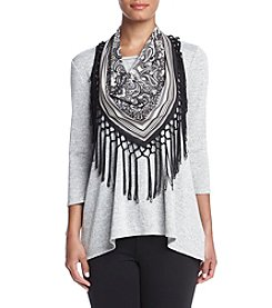 Oneworld® High-Low Top With Scarf