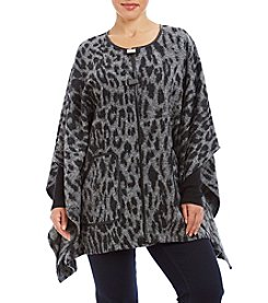 Rafaella® Plus Size Animal Print Poncho