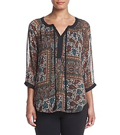 Laura Ashley® Luxe Tapestry Print Top