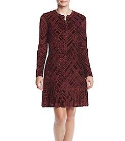 Tommy Hilfiger® Printed Burnout Dress