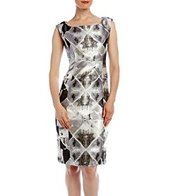 Calvin Klein Cap Sleeve Printed Sheath Dress