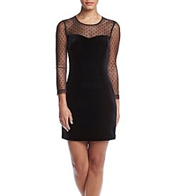 GUESS Illusion Dot Sheath Dress
