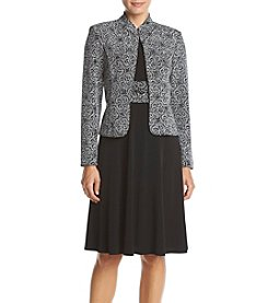 Jessica Howard® Petites' Long Sleeve Sparkle Jacket Dress