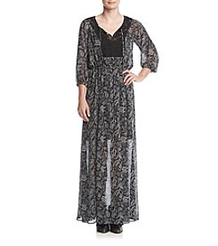 Ruff Hewn GREY Paisley Maxi Dress
