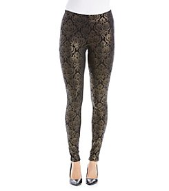 Ruff Hewn GREY Goldtone Foil Pants