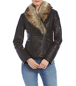 Ruff Hewn GREY Fur Collar Jacket