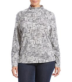 Studio Works® Plus Size Mock Neck Top