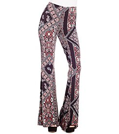Jessica Simpson Moxie Novelty Print Flare Pants