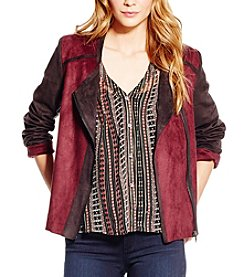 Jessica Simpson Elora Bonded Faux Suede Moto Jacket