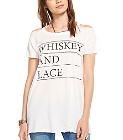 Chaser® Whiskey And Lace Could Shoulder Graphic Tee