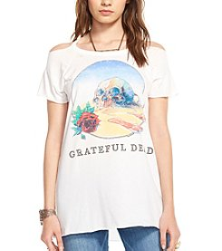 Chaser® Skull And Bones Grateful Dead® Cold Shoulder Graphic Tee
