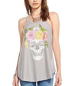 Chaser® Flower Crown Skull Graphic Swing Tank