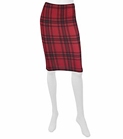 A. Byer Plaid Pencil Skirt