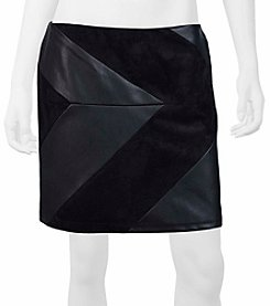 A. Byer Faux Suede And Faux Leather Mini Skirt
