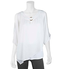 A. Byer Asymmetrical Cold Shoulder Top