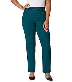 Bandolino® Plus Size Mandie Colored Twill Pants