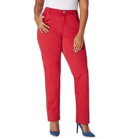 Bandolino® Plus Size Mandie Colored Twill Pants