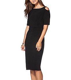 Chaps® Cutout Jersey Dress