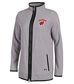 Under Armour® NCAA® Wisconsin Badgers Women's Downtown Cozy Full Zip Sweatshirt