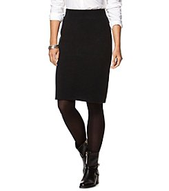 Chaps® Cotton-Blend Pencil Skirt