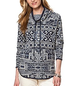 Chaps® Patterned Funnelneck Sweater
