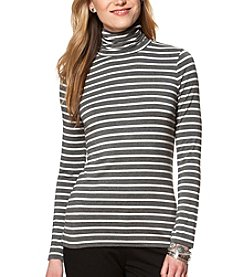 Chaps® Striped Jersey Turtleneck