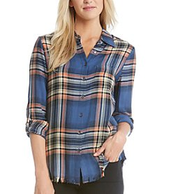 Karen Kane® Canyon Plaid Top