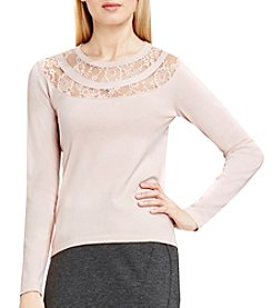 Vince Camuto® Lace Yoke Sweater