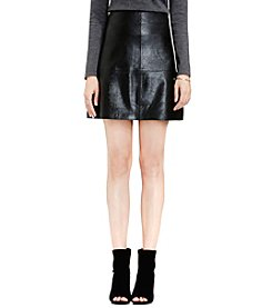 Vince Camuto® Distressed Leather Skirt