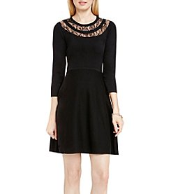 Vince Camuto® Flare Lace Yoke Dress